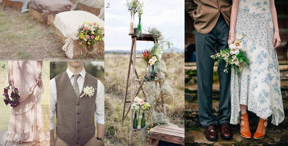 Una boda rústica con toque vintage